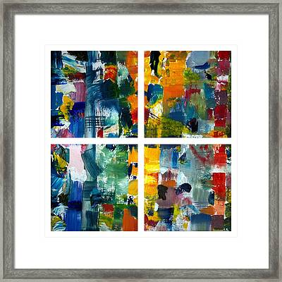 Color Relationships Collage Framed Print by Michelle Calkins