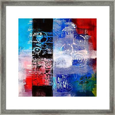 Color Scrap Framed Print by Nancy Merkle