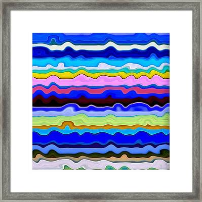 Color Waves No. 4 Framed Print by Michelle Calkins
