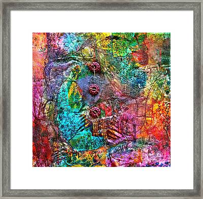 Color With Buttons Framed Print by Bellesouth Studio