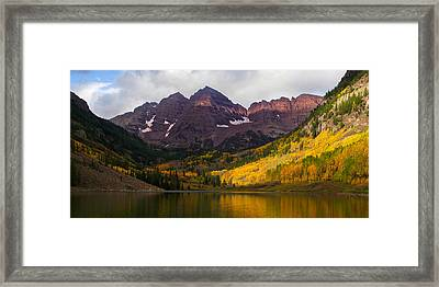 Colorado 14ers The Maroon Bells Framed Print by Aaron Spong