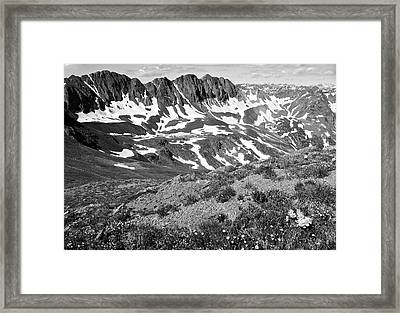 Colorado Black And White Framed Print by Aaron Spong