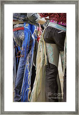 Colorado Colorful Chaps Framed Print by Janice Rae Pariza