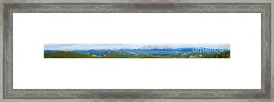 Colorado Continental Divide Panorama Hdr Framed Print by James BO  Insogna
