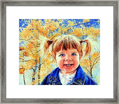 Colorado Cutie Framed Print by Hanne Lore Koehler