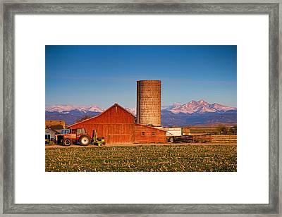 Colorado Farming Framed Print by James BO  Insogna