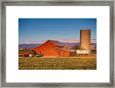 Colorado Front Range Farming  Framed Print by James BO  Insogna