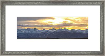 Colorado Front Range Panorama Gold Framed Print by James BO  Insogna