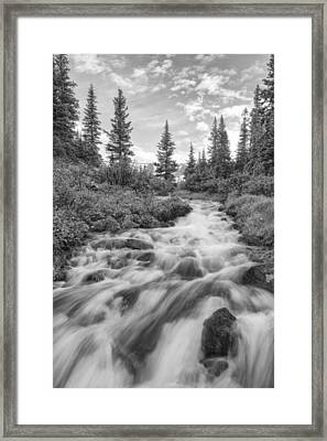 Colorado Images - Rocky Mountain Cascade On Berthoud Pass Framed Print by Rob Greebon