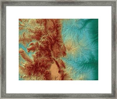 Colorado Map Art Framed Print by Paul Hein