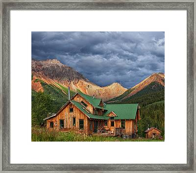 Colorado Mountain Home Framed Print by Darren  White