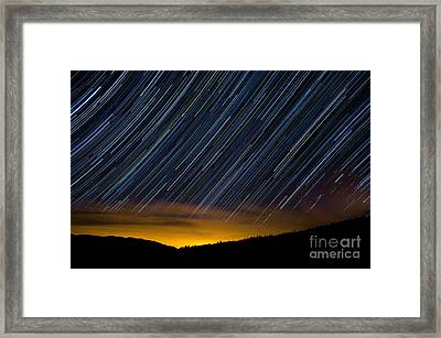 Colorado Mountain Startrails Framed Print by Benjamin Reed