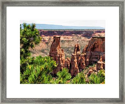 Colorado National Monument Canyon Monoliths Framed Print by Christopher Arndt
