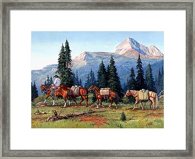 Colorado Outfitter Framed Print by Randy Follis