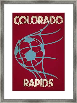 Colorado Rapids Goal Framed Print by Joe Hamilton