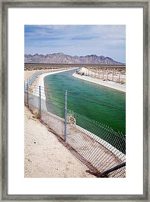 Colorado River Aqueduct Framed Print by Jim West