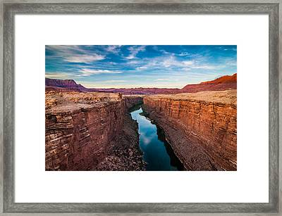Colorado River At Marble Canyon Framed Print by Erica Hanks