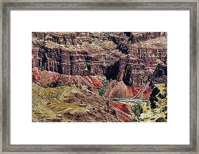 Colorado River In The Grand Canyon High Water Framed Print by Bob and Nadine Johnston