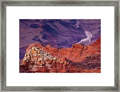 Colorado River, Lipan Point, South Rim Framed Print by Michel Hersen