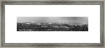 Colorado Rocky Mountain Continental Divide Peaks Panorama Bw Framed Print by James BO  Insogna