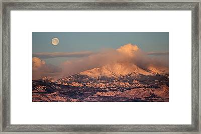 Colorado Rocky Mountain Full Moon Set Panorama Framed Print by James BO  Insogna