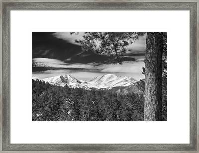 Colorado Rocky Mountain View Black And White Framed Print by James BO  Insogna