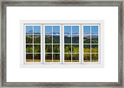 Colorado Rocky Mountains White Window Frame View Framed Print by James BO  Insogna