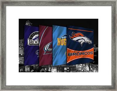 Colorado Sports Teams Framed Print by Joe Hamilton