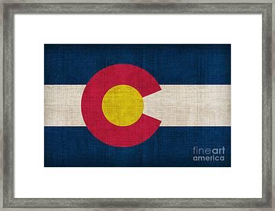Colorado State Flag Framed Print by Pixel Chimp