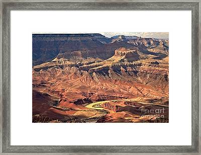 Colorado Through The Canyon Framed Print by Adam Jewell
