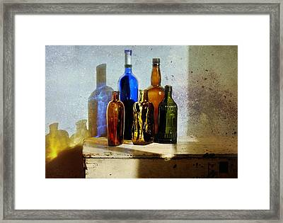 Colored Glass Framed Print by Diana Angstadt