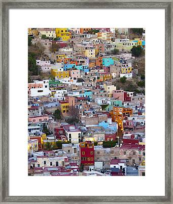 Colored Homes Framed Print by Douglas J Fisher