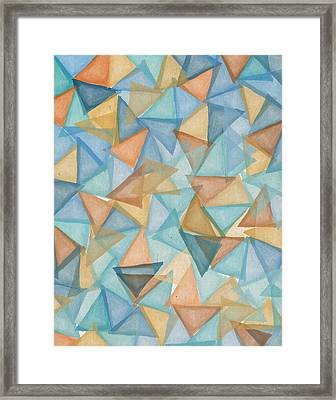 Colored Triangles Framed Print by Aged Pixel