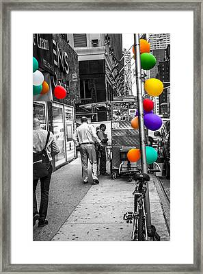 Colored With Balloons Framed Print by Karol Livote