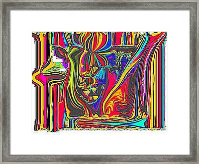 colorful 3D Framed Print by HollyWood Creation By linda zanini