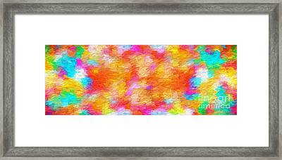 Colorful Abstract 102 Panorama Framed Print by Andee Design