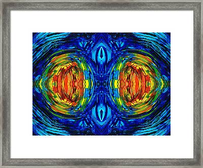 Colorful Abstract Art - Parallels - By Sharon Cummings  Framed Print by Sharon Cummings