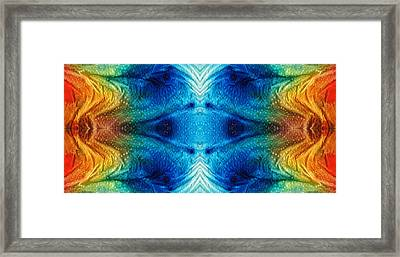Colorful Abstract Art Pattern - Color Wheels - By Sharon Cummings Framed Print by Sharon Cummings