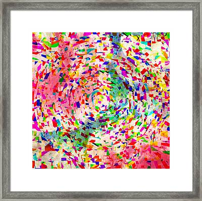 Colorful Abstract Circles Framed Print by Susan Leggett