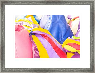 Colorful Beanbags Framed Print by Tom Gowanlock