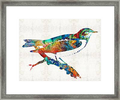 Colorful Bird Art - Sweet Song - By Sharon Cummings Framed Print by Sharon Cummings