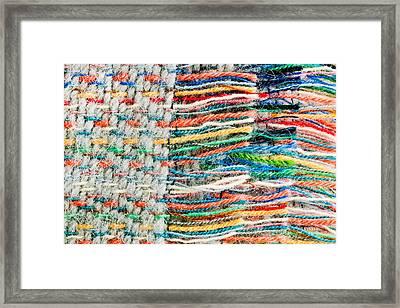Colorful Blanket Framed Print by Tom Gowanlock