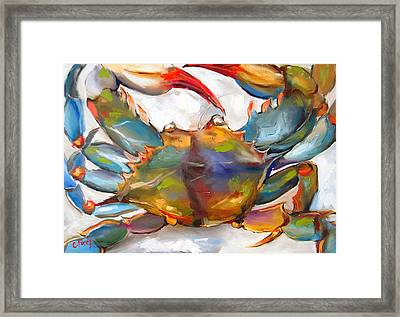 Colorful Blue Framed Print by Carole Foret