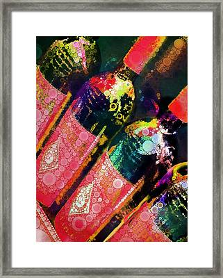 Colorful Bottles Framed Print by Cindy Edwards