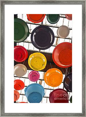 Colorful Bowls Framed Print by Carlos Caetano