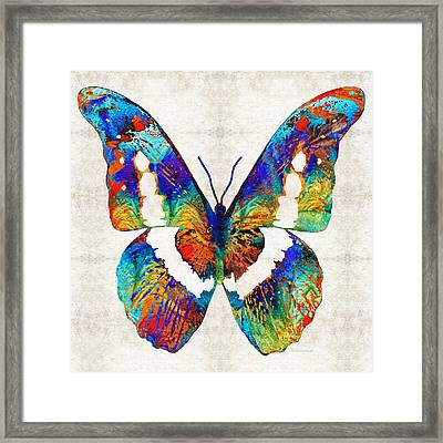 Colorful Butterfly Art By Sharon Cummings Framed Print by Sharon Cummings