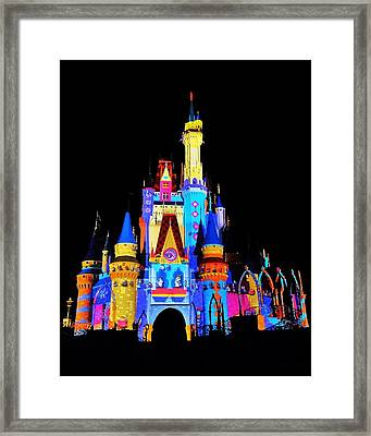 Colorful Castle Framed Print by Benjamin Yeager