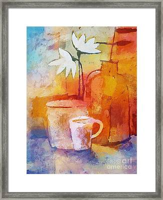 Colorful Coffee Framed Print by Lutz Baar