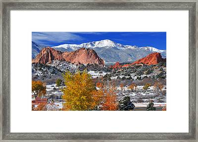 Colorful Colorado Framed Print by John Hoffman