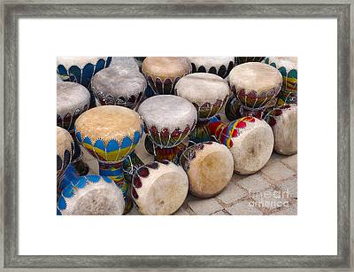 Colorful Congas Framed Print by Carlos Caetano